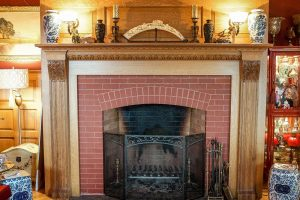 Fireplace Mantel, White Oak (carving only)