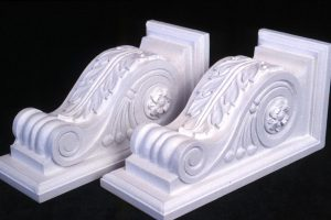 Decorative Corbel Brackets, Painted Basswood