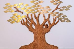 Giving Tree, Conway Congregational Church, Alder and Brass