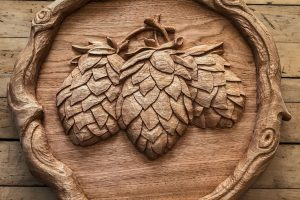 Butternut relief panel for Lefty's Brewing Company English Ale