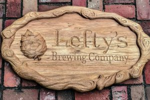 Butternut relief of Lefty's Brewing Company logo