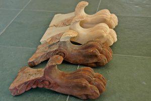 Lion Feet Table Restoration, Mahogany