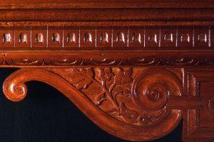 Renaissance Shelf, Mahogany, Detail