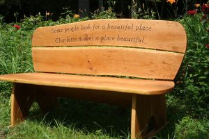 Inscribed Garden Bench, Cherry (carving only)