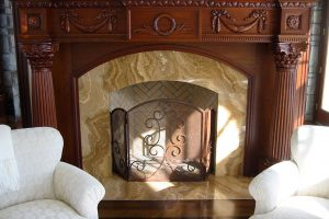 Classical Fireplace, Mahogany (Carving Only)