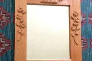 Honey Bee Wedding Mirror, Alder